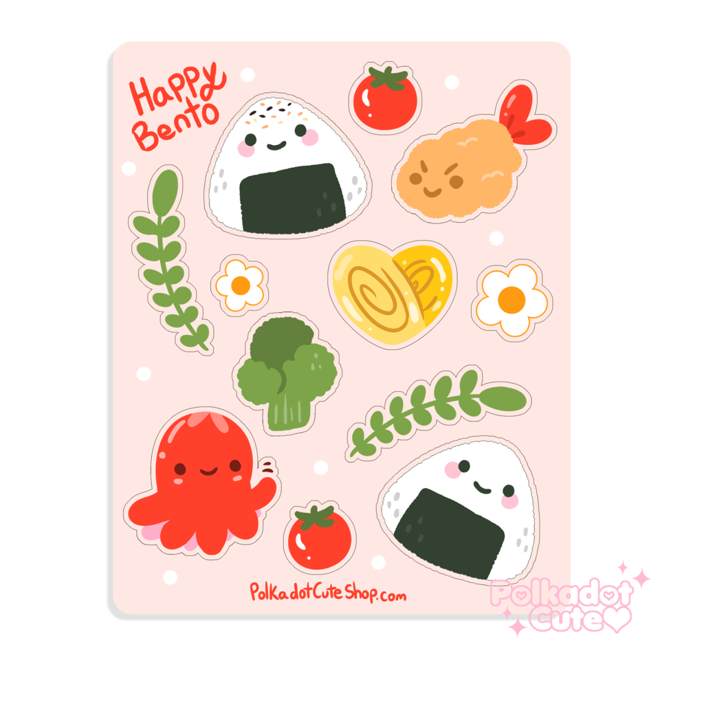 Happy Bento Sticker Sheet