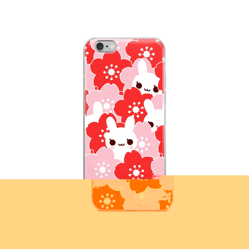Sakura Bunny iPhone Case